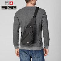 瑞士SIGG单肩包 运动斜挎包男 户外挎包旅行休闲帆布男士胸包 小