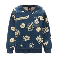 迪士尼男童卡通卫衣圆领套头 KVM6F2SOKB4109