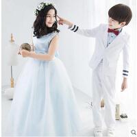 韩版圣诞节演出服男童礼服婚礼花童西装套装儿童小西装