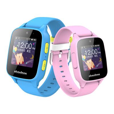 阿巴町儿童电话手表定位拍照男女孩学生智能手环通话手表防水B108