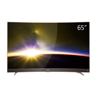 TCL 65P3 65英寸 曲面 4K 智能平板电视 HDR显示技术 超窄金属边框 玫瑰金