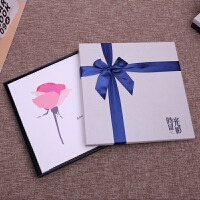 皮面手工diy相册覆膜粘贴式韩国创意情侣浪漫影集家庭宝宝纪念本 +礼盒套装