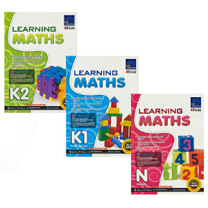 SAP Learning Maths Collection N-K2 新加坡数学 学习系列幼儿园数学3册套装 新亚出版社教辅 3-6岁 小班-大班 儿童英文原版图书