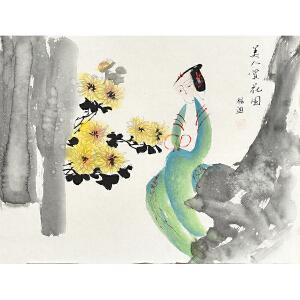 当代著名画家杨迪45 X 34CM花鸟画gh03902
