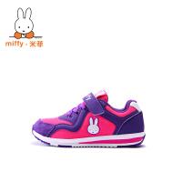 Miffy米菲 童鞋男童鞋女童运动鞋鞋2017春秋新款儿童跑步鞋休闲鞋子