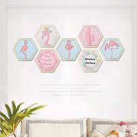 御目 挂件 粉色火烈鸟壁挂创意软装家居客厅挂件沙发背景墙面奶茶店墙壁装饰挂饰