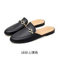 懒人鞋2019新款夏时尚穆勒鞋一脚蹬网红拖鞋女外穿平底包头半拖鞋