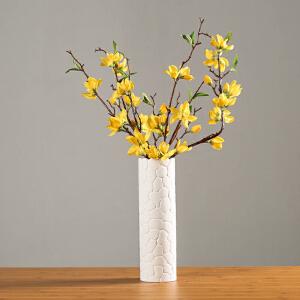 御目 摆件 简约现代陶瓷花瓶家居创意摆件白色陶瓷桌面装饰插干花花瓶