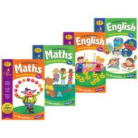 Leap Ahead Workbook Maths English 6-8岁数学英语飞跃贴纸练习册 英国出版社Iglo