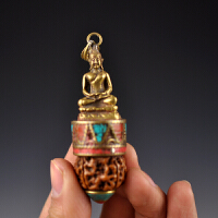 黄铜金刚菩提挂件
