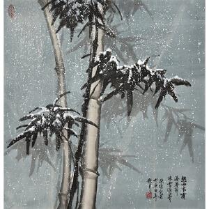 中国美术家协会会员 陈振新《冰雪浴筋骨》gx0084