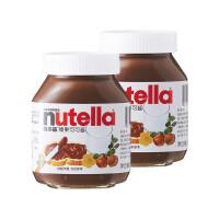 费列罗 Nutella 能多益 榛果可可酱瓶装 350g*2瓶组合 巧克力酱