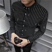 秋冬长袖韩版修身男士衬衣长袖衬衫常规青春流行个性衬衫