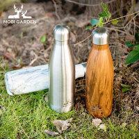 牧高笛户外徒步露营便携式水杯直身水壶不锈钢保龄球保温杯500ml