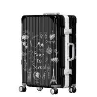 2018新款欧美拉杆箱女万向轮密码箱20寸行李箱旅行箱登机箱潮YQY294