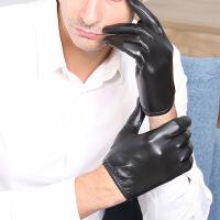 №【2019新款】冬天带的真皮手套男骑车羊皮触摸屏男士皮手套短正品