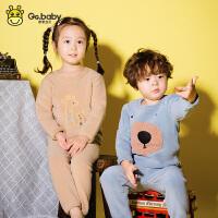 【2件2折价:36元】歌歌宝贝婴幼儿套装秋冬男女小童洋气秋季两件套儿童衣服加绒宝宝秋装