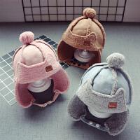 秋冬宝宝儿童毛绒帽子男童护耳雷锋帽女童羊羔绒3-8岁套头帽