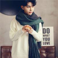 潮韩版男士围巾秋冬季学生情侣毛线针织百搭围巾男围脖简约年轻人