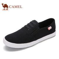 camel骆驼男鞋 春季日常简约轻便休闲舒适套脚帆布鞋
