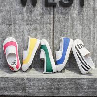 童鞋女童1-2-3岁儿童帆布鞋宝宝休闲一脚蹬