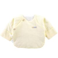 纯棉新生婴儿薄棉半背衣服初生宝宝上衣防尿湿
