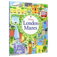 Usborne London Mazes 伦敦迷宫大冒险 大开本英语活动书 旅游情景 益智有趣 儿童英文原版图书进口