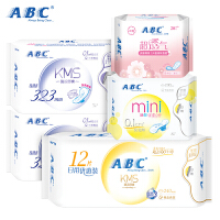 ABC卫生巾棉柔KMS日用夜用卫生巾护垫学生组合 共5包