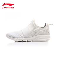 李宁休闲鞋女鞋新款轻便耐磨防滑一体织潮流夏季运动鞋AGLM088
