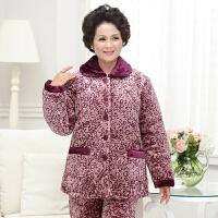 冬季加厚夹棉中老年人睡衣女珊瑚绒保暖中年老人妈妈 XXXL(建议155-175斤左右 )