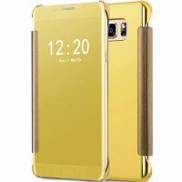 坚达 手机壳电镀镜面翻盖手机套外壳 适用于三星Galaxy c9/c9000/c9pro 全屏钢化膜 保护膜