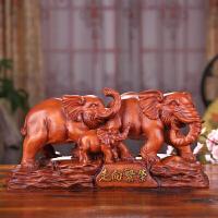 大象摆件一对 家居客厅酒柜玄关装饰品摆设乔迁开业工艺礼品