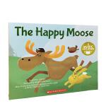 英文原版 快乐的驯鹿 The Happy Moose 附CD 音乐绘本 STEM教育 3-9岁