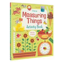 Usborne Measuring Things Activity Book 数学测量贴纸活动书 3-7岁 儿童英文原