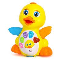 汇乐玩具808摇摆鸭子鹅婴幼儿音乐电动益智会跑会跳舞的玩具1-2岁