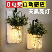 太阳能梅森罐萤火虫瓶子挂灯ins装饰房间布置求婚LED圣诞节装饰灯