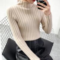 半高领毛衣女韩版打底衫秋冬2018新款加厚长袖修身百搭套头针织衫