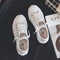 小白百搭草莓板鞋女2019春港风复古帆布鞋子韩版学生原宿ulzzang