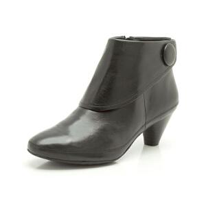 Clarks/其乐女鞋2017秋冬新款真皮时尚高跟短靴Lucilla Denny专柜正品直邮