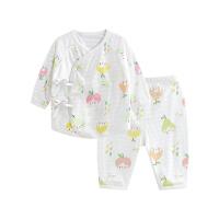 婴儿内衣套装纯棉和尚服新生儿睡衣两用裆水果女孩两用裆合同套