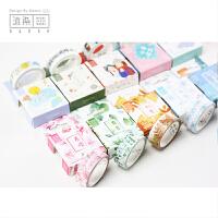 沐染原创 和纸胶带 四季恋歌天气萌物 手账日式美纹纸胶带可撕无痕