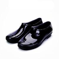 雨鞋男潮短筒低帮春夏季胶鞋中筒套鞋雨靴水鞋男 48.5 不加棉标准码