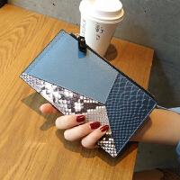 皮钱包女长款薄韩版潮新款时尚个性多功能多卡位卡包大容量