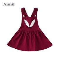 【3件3折:71.7】安奈儿女小童夏季新款棉弹背带短裙TG833460