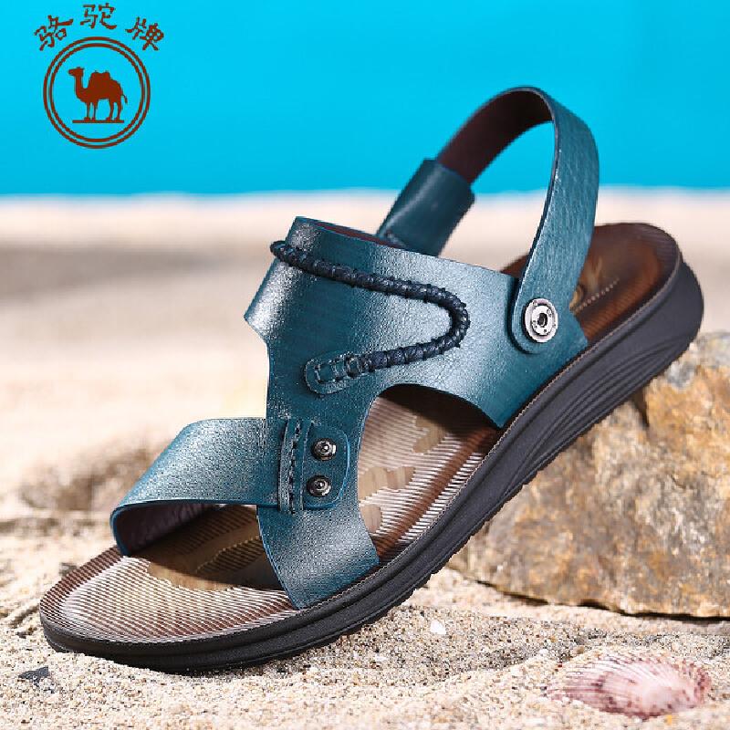 骆驼牌男鞋 夏季新款 休闲男凉鞋透气休闲户外沙滩鞋