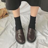 英伦风复古ins小皮鞋女鞋子潮2019春秋季新款百搭韩版粗跟单鞋潮