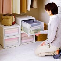 爱丽思IRIS 进口塑料收纳箱 抽屉式衣柜收纳柜储物箱前开式收纳盒