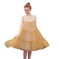 慈颜夏装款纯色无袖大码连衣裙宽松夏款中长款孕妇裙YLYM5356