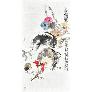 山东省美术家协会会员 李东献《五德同乐图》gh04228