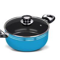 电磁炉小熬汤锅具不锈钢通用煮粥奶锅家用双耳煲汤炖锅
